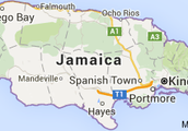 The map of Jamaica