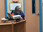 Librarian, Mrs. L. Hinojosa
