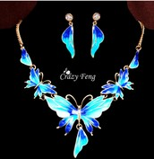 Butterfly 4 Colors Jewelry Sets