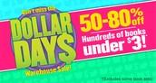 Scholastic Dollar Days Warehouse Sale