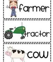 Farm Animals Word Wall Cards