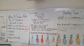 Student and Teacher Created Anchor Charts...