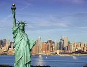 Liberty with New York behind.