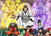 Naruto and Sasuke with sage of the sixth paths