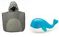 חבילת שי לראש השנה מגבת פונצ'ו כריש ולוויתן לאמבט