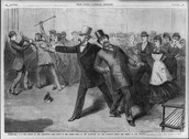Rendering of the shooting of James Garfield