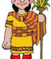Drawing of Inca person