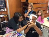 Face Painting at the Dia de Los Muertos Event