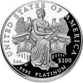 Platinum is used for collectable coins.