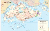 This is a map of Singapore