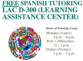 Free Spanish tutoring at Learning Assistance Center