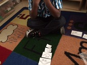 Quatravious put his dinosaurs in order from smallest to largest! Good job!