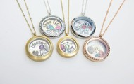 Examples of different lockets.