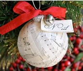 Sheet Music Ball Ornament