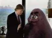 RONALD TRUMP WITH GRIMACE.