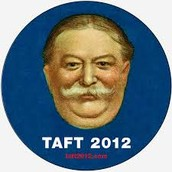 The double chin of Taft kinda looks like a raft.
