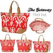 The Getaway - Red Ikat