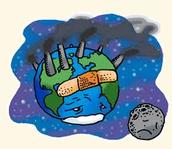 الكره الارضيه تتلوث