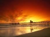 A beach in California