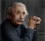 Albert Einstein color photo