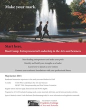 """Franklin College Maymester """"Boot Camp"""" in Entrepreneurial Leadership in the Arts and Sciences"""