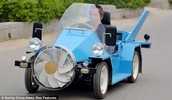 Wind powered car