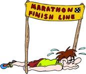 Yo corrí un maratón en York Nuevo.