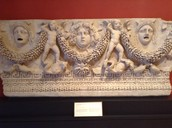 Sarcophagus Panel with Medusa and theatre masks