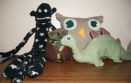Sock Monkeys, Owls, Dinos and more!
