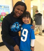 This little Panther fan with Mrs. Steele.