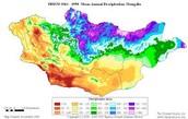 mongolia climate map