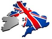 Ireland borders the UK.