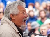 Which three leadership traits did David Suzuki apply?