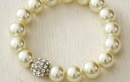 Soiree Pearl Pave Bracelet - Ivory - SOLD