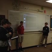 Junior High Students Teach Story Elements