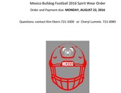 Order MHS Football T-shirts