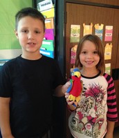 Lyla and Gage passed WORD BIRD!!! So proud!!