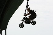 Jump of a motorcycle
