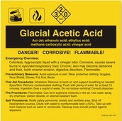 Acetic acid warning sign