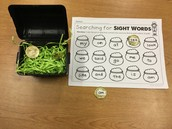 Gold Coin Sight Words