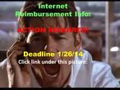 Internet Reimbursement info!!!