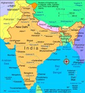 this is a map of india