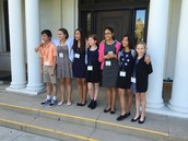 The Junior Docents posing for the camera!
