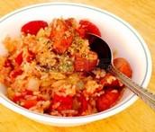 El Arroz con los tomates y la cebolla - $4.00