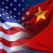 American Flag and Chinese Flag