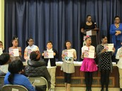 Fifth Grade Principal's Honor Awardees