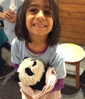 Kaavya with her panda