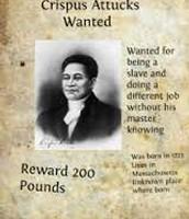 Crispus Attucks Wanted Sign