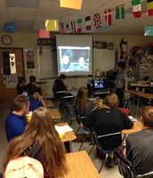 Google hangout with soldier from Afghanistan during MegaLunch
