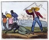 English way of punishment to slaves